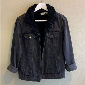 Topshop Borg Denim Jacket